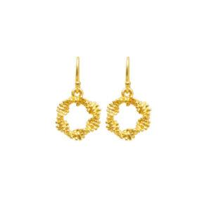 Snoet guld øreringe