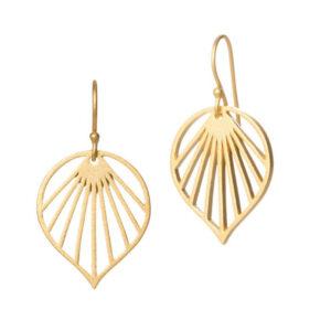 Spring Leaf øreringe i guld