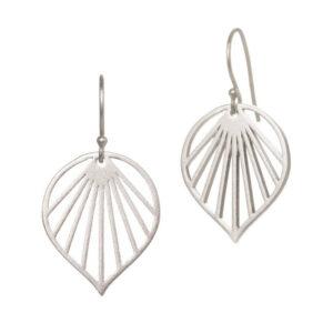 Spring Leaf øreringe i sølv