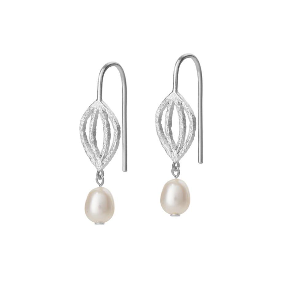 Perle ørering i sølv
