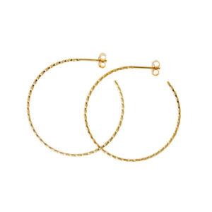 Hoops øreringe i guld