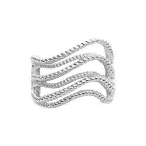 Produktfoto af wave sølv ring Dansk Copenhagen