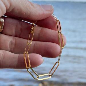 Lænke armbånd guld