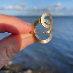 Størrelsesforhold Dot Ring Guld