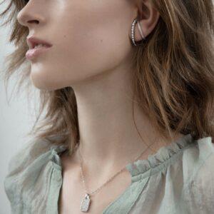 Shimmer statement øreringe model