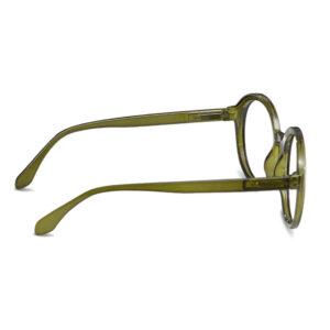 Diva green læsebrille fra siden