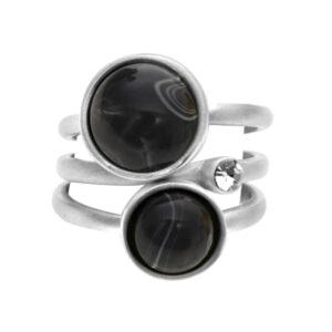 3-i-1 ring med natursten